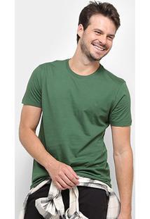 Camiseta Forum Básica Masculina - Masculino-Verde Escuro