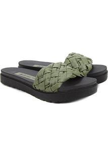 Sandália Dakota Slide Tresse Feminina - Feminino-Verde