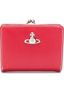 Vivienne Westwood Carteira De Couro Com Logo - Vermelho