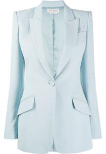 Alexander Mcqueen Single-Button Blazer - Azul