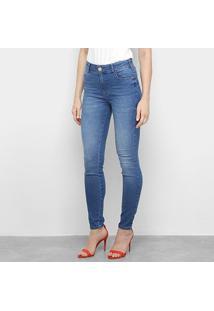 Calça Jeans Skinny Colcci Estonada Cintura Média Feminina - Feminino-Jeans