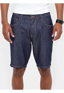 Bermuda Jeans Coca-Cola Super Escura Indigo Classic Masculina - Masculino