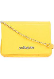 Bolsa Petite Jolie Mini Bag One Alça Corrente Feminina - Feminino-Amarelo Claro