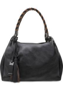 Bolsa Feminina Corello Shoulder Bag Babi Couro Floater Preto