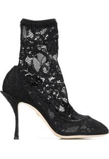 Dolce & Gabbana Ankle Boot 'Coco' - Preto