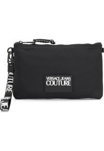Versace Jeans Couture Clutch Com Placa De Logo - Preto
