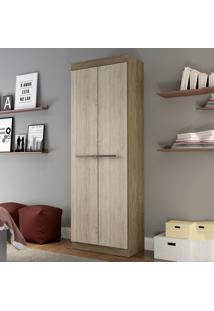 Armário Multiuso 2 Portas Rp8020 Wood/Malbec - Decibal Móveis