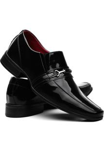 Sapatos Social Vr Masculino Verniz Brilho Preto - Masculino-Preto