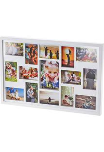 Painel Collection Para 14 Fotos 10X15 E 1 Foto 15X21 - Woodart - Branco