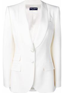 Dolce & Gabbana Blazer Com Abotoamento Simples - Neutro