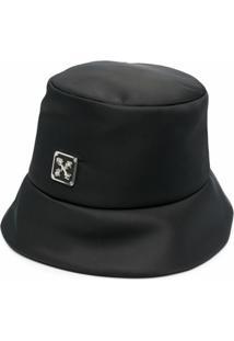 Off-White Chapéu Bucket Com Placa De Logo - Preto