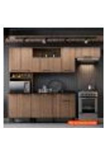 Cozinha Compacta Acácia 7 Pt Castanho