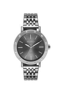Relógio Euro Feminino Spike Fever Casual Prata Eu2035Ypg/3K Eu2035Ypg/3K