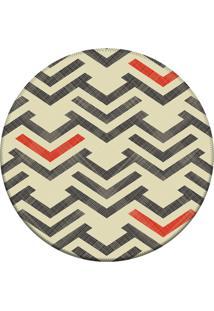 Tapete Love Decor Redondo Wevans Setas Bege 84Cm