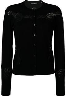 Dolce & Gabbana Cardigã Com Detalhe Vazado - Preto