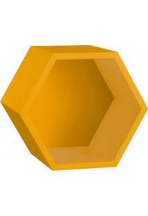 Nicho Hexagonal Mdf Favo Maxima Amarelo
