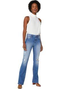 Calça Jeans Flare Puídos