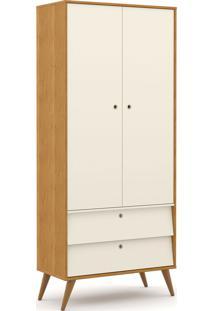 Roupeiro 2 Portas Gold Freijó/Off White/Eco Wood Matic Móveis