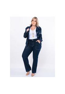 Jaqueta Plus Size Attribute Jeans Stone
