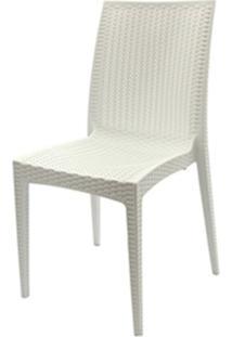 Cadeira Rattan Polipropileno Branco - 18919 - Sun House