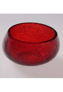 Cachepot Vela- Pashmina- Craquelado- Vermelha - Vermelho - Dafiti