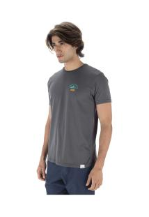 Camiseta Hd Estampada Climber - Masculina - Cinza Escuro