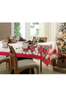 Toalha De Mesa Redonda Karsten Milagres De Natal 160 X 0Cm 4 Lugares - Multicolorido - Dafiti