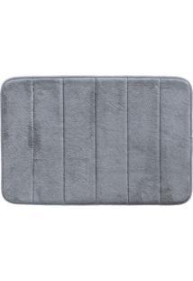 Tapete De Banheiro Super Soft- Cinza- 60X40Cm- Ccamesa