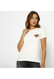 Blusa ''Guessâ®'' Rosas- Off White & Vermelha- Guessguess