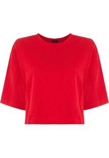Osklen Blusa Cropped Rusty - Vermelho