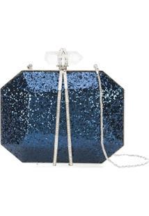 Marchesa Clutch Com Paetês - Azul
