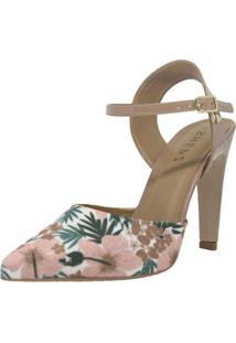 Scarpin Shepz Detalhe Floral Rosa