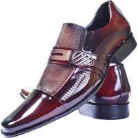 b2035c5730 Sapato Social Gofer Couro Verniz - Masculino-Vermelho