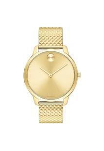 Relógio Movado Feminino Aço Dourado - 3600598