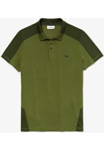 Camisa Polo Lacoste Regular Fit Masculina - Masculino-Verde Militar