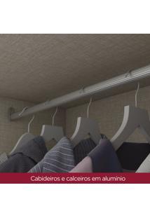Quarto De Casal Completo Com Cômoda, Cabeceira E Guarda Roupa Alba Café
