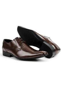 Sapato Social Couro Bico Fino Bigioni Masculino - Masculino-Marrom