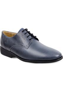 Sapato Em Couro Firenze 220230 - Masculino-Azul
