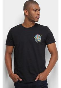 Camiseta T-Shirt Colcci Manga Curta Masculina - Masculino-Preto