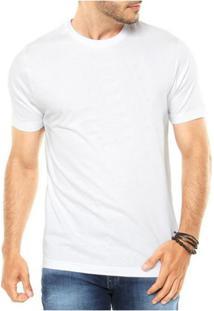 Camiseta Criativa Urbana Lisa Básica - Masculino-Branco