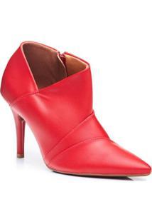 Ankle Boots Vizzano Feminino - Feminino-Vermelho