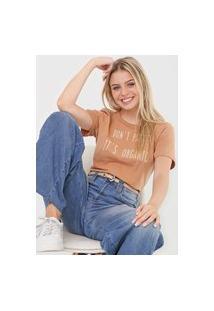 Camiseta Colcci Organic Bege