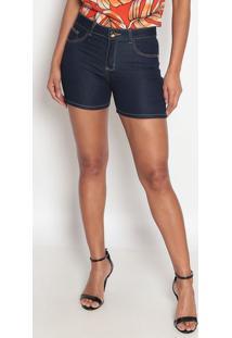 Bermuda Jeans Lisa-Azul Escuro-Fio Brasilfio Brasil