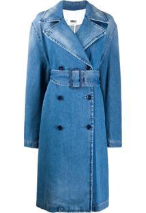 Mm6 Maison Margiela Casaco Jeans Com Abotoamento Duplo - Azul