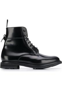 Church'S Ankle Boot Com Cadarço - Preto