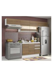 Cozinha Compacta Madesa Marina Branco/Rustic