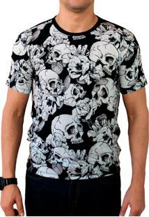 Camiseta Ops Skull Dark Estampada