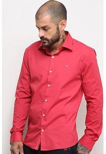 Camisa Ellus Lisa Manga Longa Masculina - Masculino