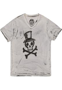Camiseta Masculina Caveira Off White