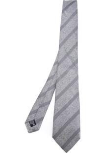 Armani Collezioni Gravata Listrada De Seda - Grey